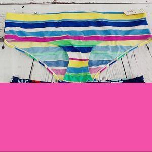 NWT Joe Boxer bikini bottom striped